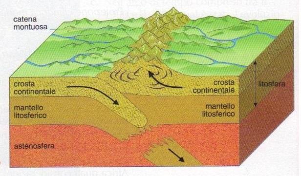 Margini convergenti placche continentali